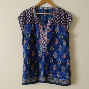 Lucky Brand mixed print top